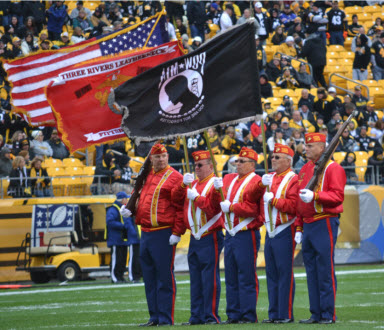 3 Rivers Leatherneck Color Guard at Heinz Field